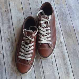 MEN'S CONVERSE BROWN LEATHER ALL STARS